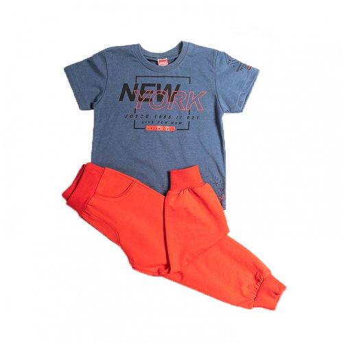Joyce μπλε σετ μπλούζα παντελόνι για αγόρι 211357P
