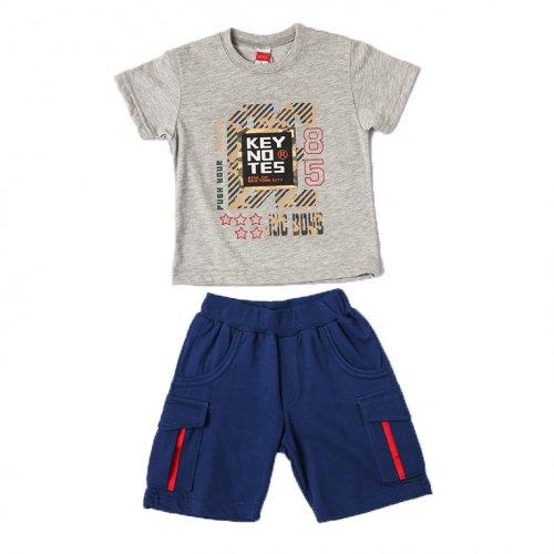 Joyce γκρι σετ μπλουζάκι βερμούδα για αγόρια 211367R