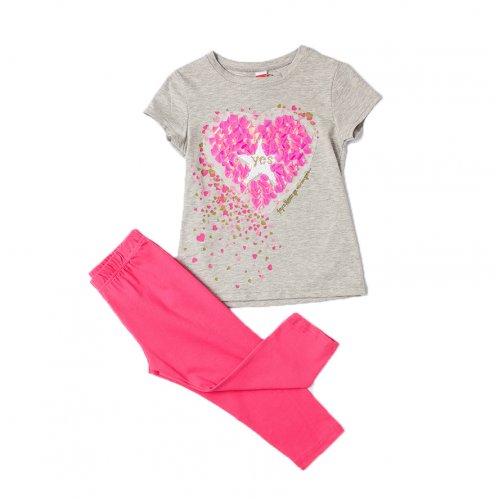 Joyce γκρι σετ μπλουζάκι κολάν για κορίτσι 211522G