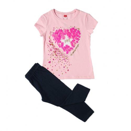 Joyce ροζ σετ μπλουζάκι κολάν για κορίτσι 211522W