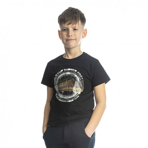 Joyce μαύρο t-shirt με τύπωμα για αγόρι 211700C