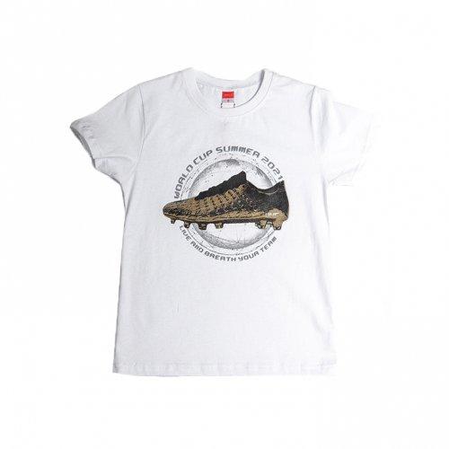 Joyce λευκό t-shirt με τύπωμα για αγόρι 211700Y