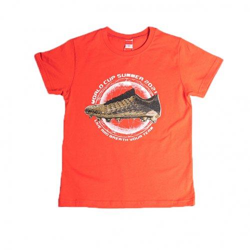 Joyce κόκκινο t-shirt με τύπωμα για αγόρι 211700