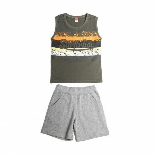 Joyce χακί σετ μπλουζάκι βερμούδα για αγόρι 211758Z