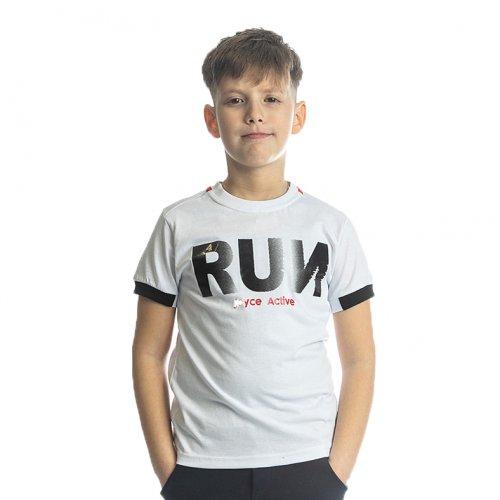 Joyce λευκό t-shirt με τύπωμα για αγόρι 211780L