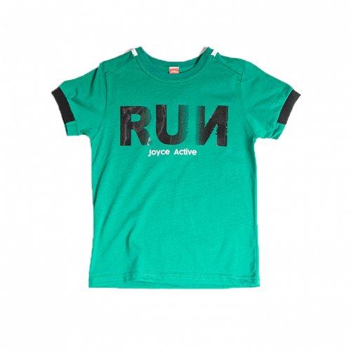 Joyce πράσινο t-shirt με τύπωμα για αγόρι 211780D