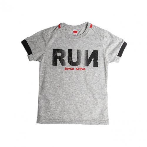 Joyce γκρι t-shirt με τύπωμα για αγόρι 211780