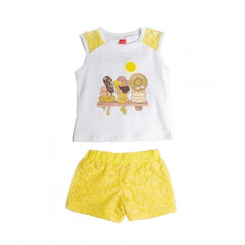 Joyce κίτρινο σετ μπλούζακι σορτσ για κορίτσι 211135F