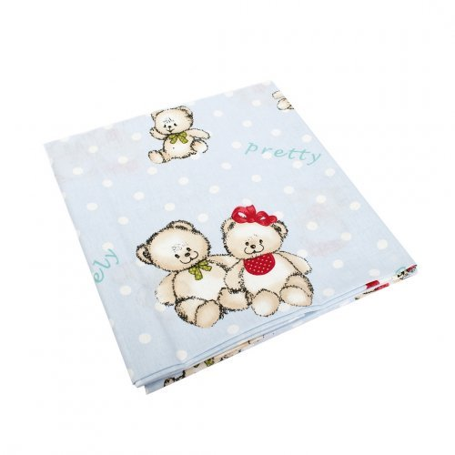 DIMcol ΠΑΝΑ ΧΑΣΕΣ ΒΡΕΦ Cotton 100% 80X80 Two Lovely Bears 64 Blue