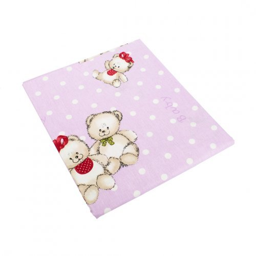 DIMcol ΠΑΝΑ ΧΑΣΕΣ ΒΡΕΦ Cotton 100% 80X80 Two Lovely Bears 65 Lila