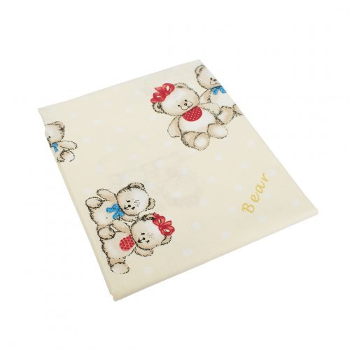 DIMcol ΠΑΝΑ ΧΑΣΕΣ ΒΡΕΦ Cotton 100% 80X80 Two Lovely Bears 67 Ecru