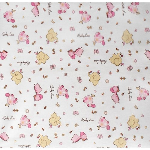 DIMcol ΠΑΝΑ ΧΑΣΕΣ ΒΡΕΦ Cotton 100% 80X80 Elephant 172 Pink