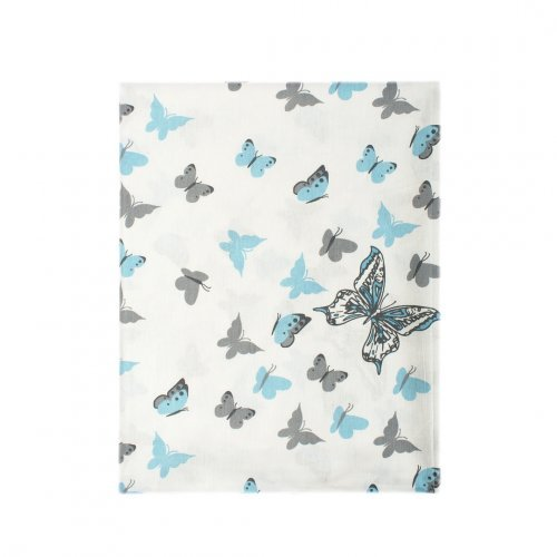 DIMcol ΠΑΝΑ ΧΑΣΕΣ ΒΡΕΦ Cotton 100% 80X80 Butterfly 56 Sky blue