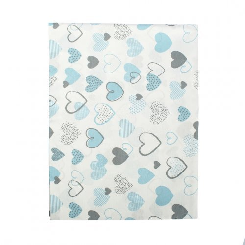 DIMcol ΠΑΝΑ ΧΑΣΕΣ ΒΡΕΦ Cotton 100% 80X80 Hearts 08 Blue