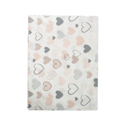 DIMcol ΠΑΝΑ ΧΑΣΕΣ ΒΡΕΦ Cotton 100% 80X80 Hearts 09 Coral