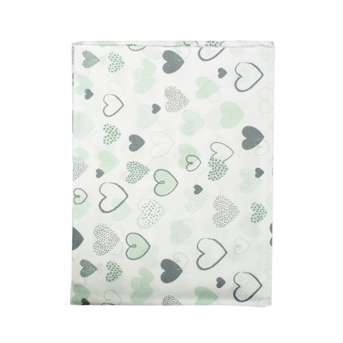 DIMcol ΠΑΝΑ ΧΑΣΕΣ ΒΡΕΦ Cotton 100% 80X80 Hearts 10 Green
