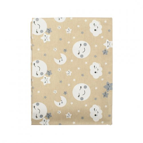 DIMcol ΠΑΝΑ ΧΑΣΕΣ ΒΡΕΦ Cotton 100% 80X80 Smile 83 Beige