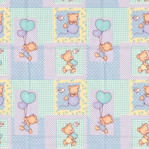 DIMcol ΠΑΝΑ ΦΑΝΕΛΑ ΒΡΕΦ Flannel Cotton 100% 80X80 Baloon 77 Sky blue