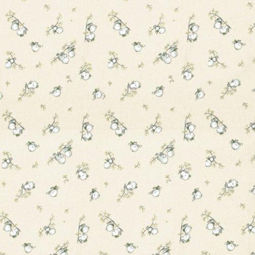 DIMcol ΠΑΝΑ ΦΑΝΕΛΑ ΒΡΕΦ Flannel Cotton 100% 80X80 Birds 16 Ecru