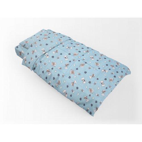 DIMcol ΠΑΠΛΩΜΑΤΟΘΗΚΗ ΕΜΠΡΙΜΕ ΠΑΙΔ Flannel Cotton 100% 160Χ240 Προβατάκι 06 Sky blue