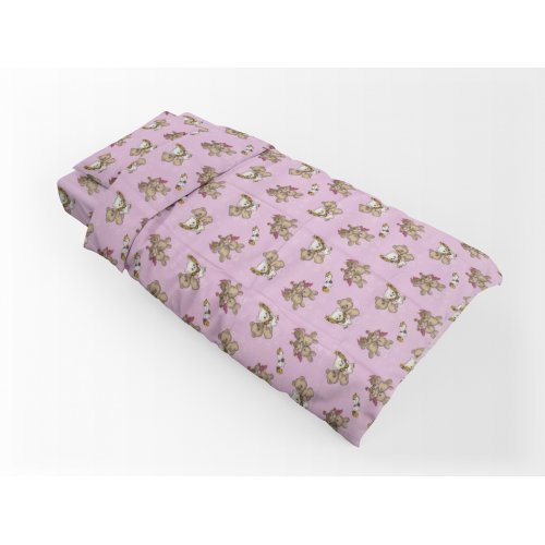 DIMcol ΠΑΠΛΩΜΑΤΟΘΗΚΗ ΕΜΠΡΙΜΕ ΠΑΙΔ Flannel Cotton 100% 160Χ240 Little Brothers 148 Pink