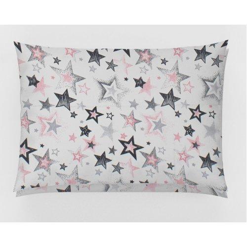 DIMcol ΜΑΞΙΛΑΡΟΘΗΚΗ ΕΜΠΡΙΜΕ ΠΑΙΔ Cotton 100% 50Χ70 Star 122 Grey-Pink