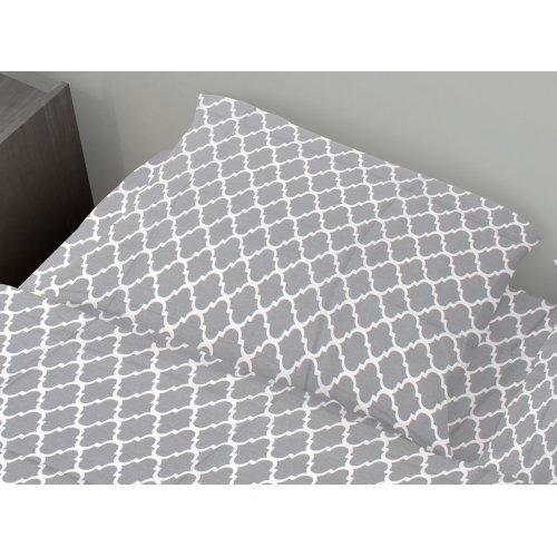 DIMcol ΜΑΞΙΛΑΡΟΘΗΚΗ ΕΜΠΡΙΜΕ ΠΑΙΔ Cotton 100% 50Χ70 Windows 135 Grey