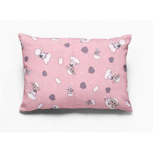 DIMcol ΜΑΞΙΛΑΡΟΘΗΚΗ ΕΜΠΡΙΜΕ ΠΑΙΔ Flannel Cotton 100% 50Χ70 Προβατάκι 05 Pink