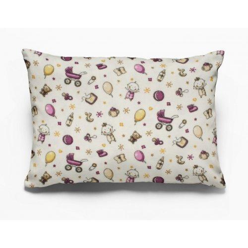 DIMcol ΜΑΞΙΛΑΡΟΘΗΚΗ ΕΜΠΡΙΜΕ ΠΑΙΔ Flannel Cotton 100% 50Χ70 Baby 01