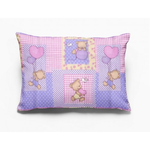 DIMcol ΜΑΞΙΛΑΡΟΘΗΚΗ ΕΜΠΡΙΜΕ ΠΑΙΔ Flannel Cotton 100% 50Χ70 Baloon 75 Pink