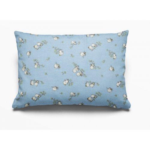 DIMcol ΜΑΞΙΛΑΡΟΘΗΚΗ ΕΜΠΡΙΜΕ ΠΑΙΔ Flannel Cotton 100% 50Χ70 Birds 14 Sky blue