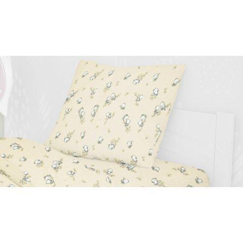 DIMcol ΜΑΞΙΛΑΡΟΘΗΚΗ ΕΜΠΡΙΜΕ ΠΑΙΔ Flannel Cotton 100% 50Χ70 Birds 16 Ecru