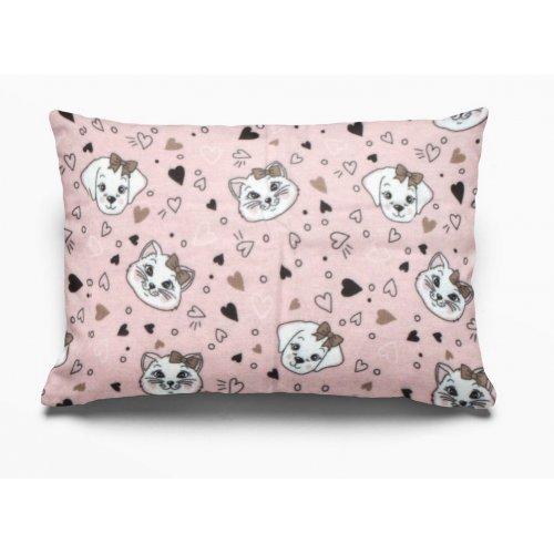 DIMcol ΜΑΞΙΛΑΡΟΘΗΚΗ ΕΜΠΡΙΜΕ ΠΑΙΔ Flannel Cotton 100% 50Χ70 Puppy-Kitten 18 Pink