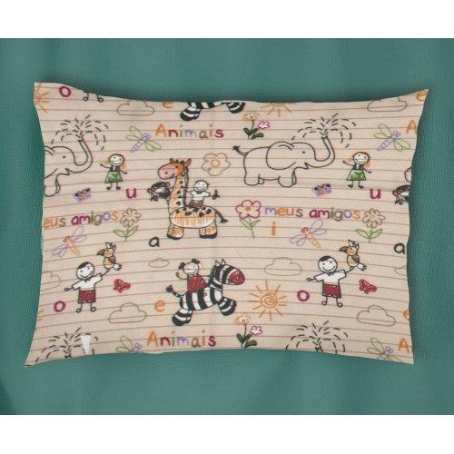 DIMcol ΜΑΞΙΛΑΡΟΘΗΚΗ ΕΜΠΡΙΜΕ ΠΑΙΔ Flannel Cotton 100% 50Χ70 Africa 145 Beige