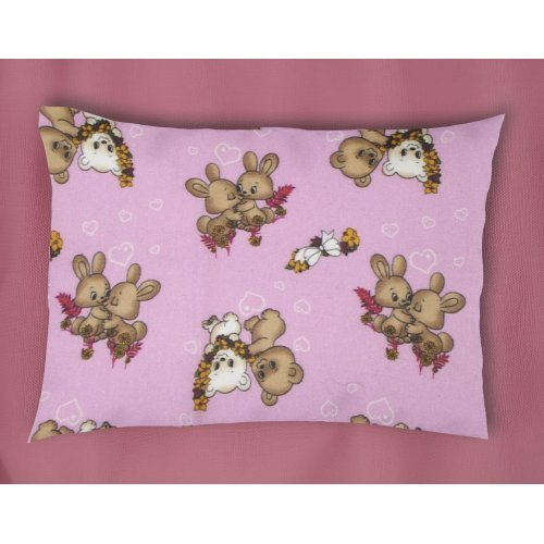 DIMcol ΜΑΞΙΛΑΡΟΘΗΚΗ ΕΜΠΡΙΜΕ ΠΑΙΔ Flannel Cotton 100% 50Χ70 Little Brothers 148 Pink