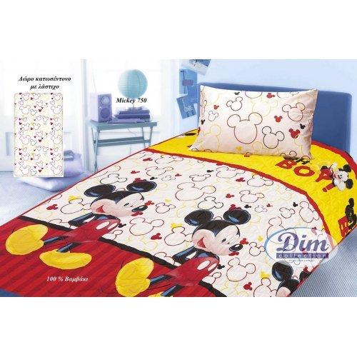 DISNEY DIMcol ΚΟΥΒΕΡΛΙ ΠΑΙΔ Cotton 100% 160Χ240 MICKEY 750 Rotary Print