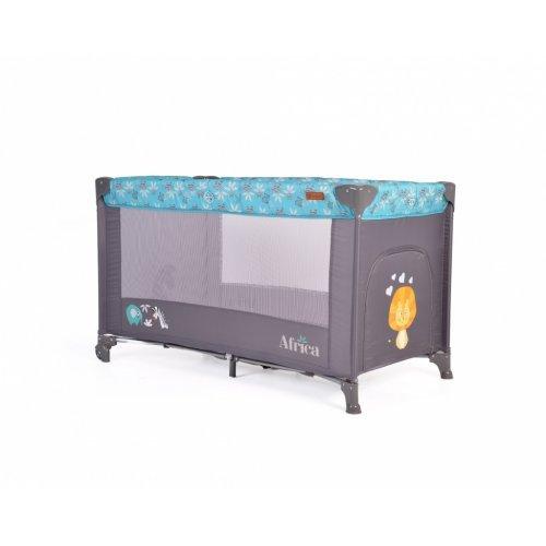 Cangaroo Παρκοκρέβατο 1 Layer Africa Turquoise 3800146248253