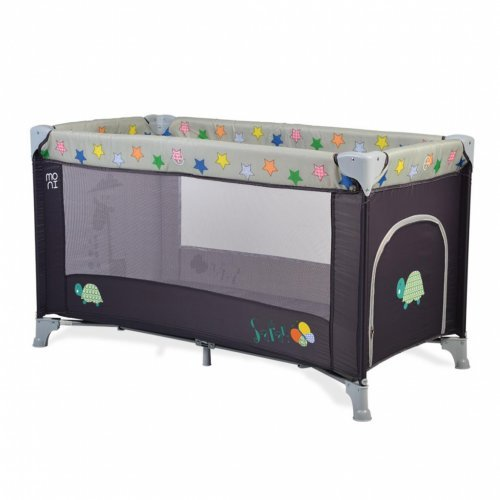 ΠΑΡΚΟΚΡΕΒΑΤΟ CANGAROO MONI SAFARI GREY 3800146247751