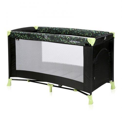 ΠΑΡΚΟΚΡΕΒΑΤΟ LORELLI BABY COT VERONA 1 LAYER BLACK GREEN DOTS 10080252079