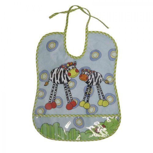 ΑΔΙΑΒΡΟΧΗ ΣΑΛΙΑΡΑ BIB WITH POCKET/100% PEVA BIB WITH COTTON BACKING 1026011-ZEBRA