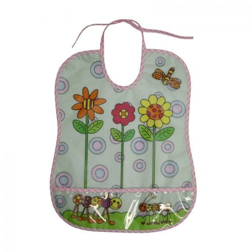 ΑΔΙΑΒΡΟΧΗ ΣΑΛΙΑΡΑ BIB WITH POCKET/100% PEVA BIB WITH COTTON BACKING 1026011-FLOWER