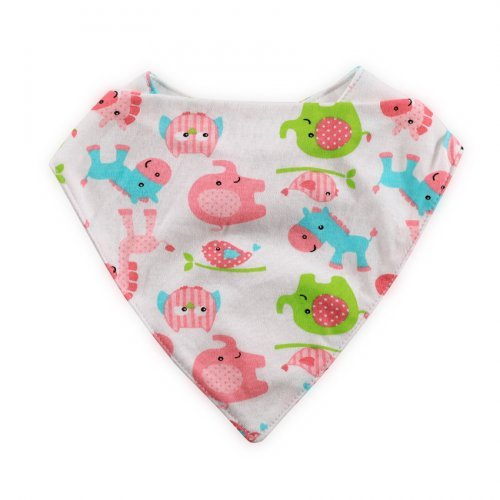 LORELLI ΒΡΕΦΙΚΗ BANDANA BIB 1026016-PINK ANIMALS