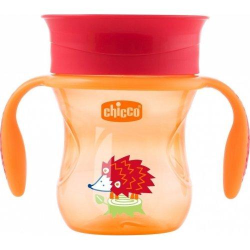 ΚΥΠΕΛΛΟ ΕΚΠΑΙΔΕΥΣΗΣ ΜΕ ΛΑΒΕΣ CHICCO PERFECT CUP ΚΟΚΚΙΝΟ 12Μ+ 200ml F04-06951-30-RED