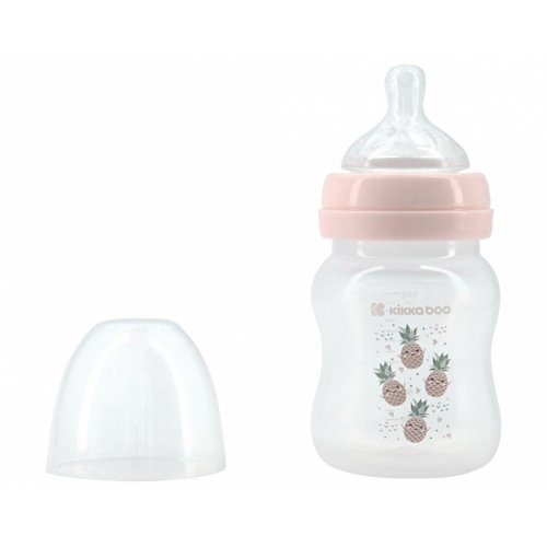 ΜΠΙΜΠΕΡΟ ΠΛΑΣΤΙΚΟ KIKKA BOO - ANTI-COLIC FEEDING BOTTLE 160ml PINEAPPLE PINK 31302020070