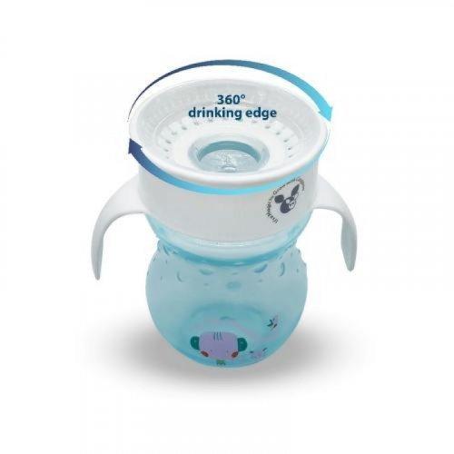 ΚΥΠΕΛΛΟ 360° ΜΕ ΛΑΒΕΣ CANGAROO MAGIC CUP 270ml BLUE 3800146265304