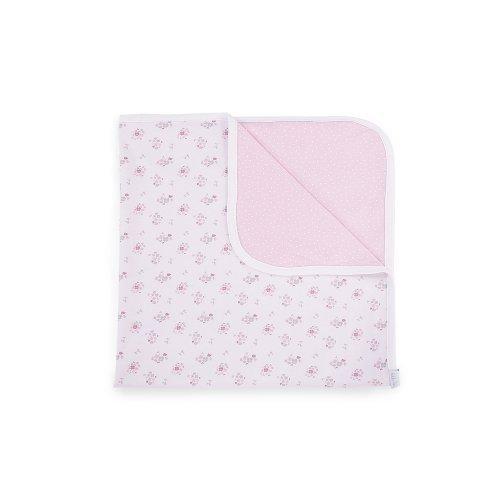 ΠΑΝΑ ΑΓΚΑΛΙΑΣ - KIKKA BOO JERSEY BLANKET PINK FLOWERS 80/80cm 41120000004
