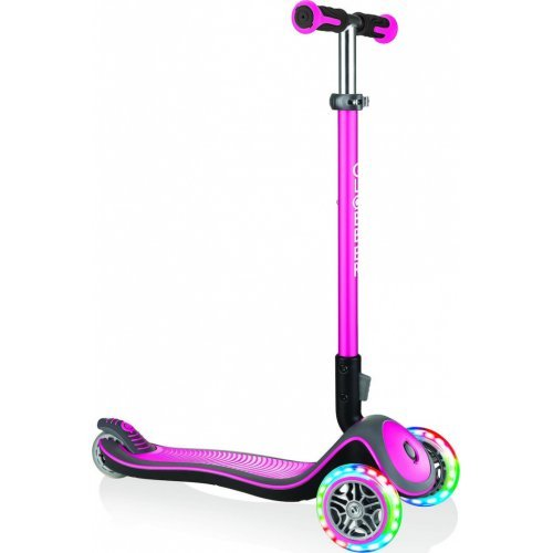 GLOBBER SCOOTER ELITE DELUXE LIGHTS DEEP PINK 444-410 - (ΔΩΡΟ ΚΟΥΔΟΥΝΙ ΠΥΞΙΔΑ AΞΙΑΣ €5)