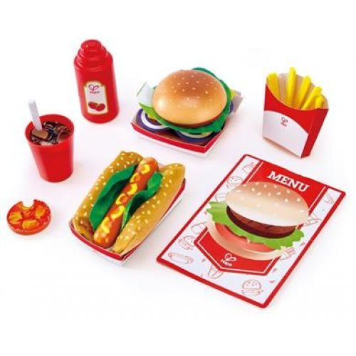 HAPE PLAYFULLY DELICIOUS ΞΥΛΙΝΟ ΣΕΤ FAST FOOD E3160
