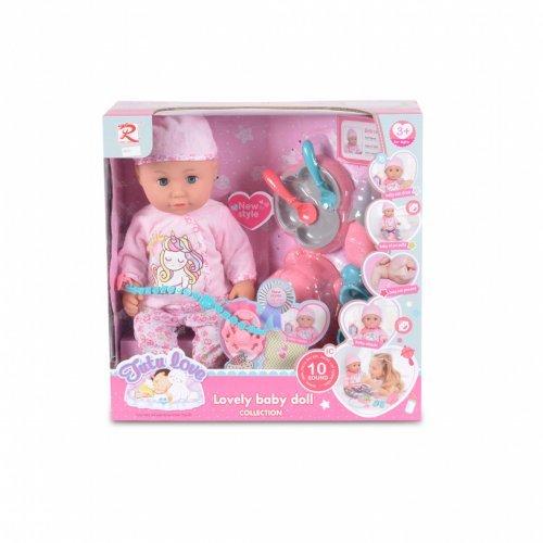 Moni μωρό κούκλα 36εκ. με αξεσουάρ φαγητού 8631 3800146266042