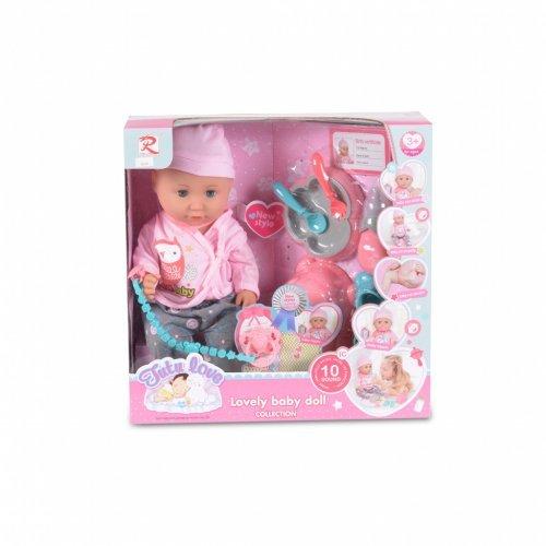 Κούκλα μωρού 36εκ. Moni 8630 3800146265892